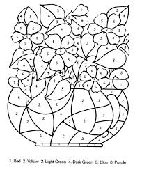 Free Printable Hard Color By Number Coloring Pages Color Number