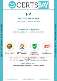 Designing Hpe Backup Solutions Hpe0 J77 Exam Questions With Latest Hp Hpe0 J77 Practice Test