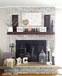 25 best ideas about whitewash brick fireplaces on