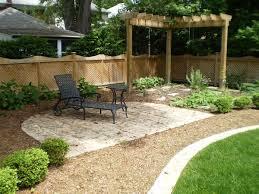 Simple backyard landscapes