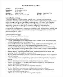 Job Proposal Templates - 10+ Free Sample Word Pdf - Template Section