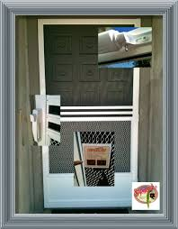 swinging screen door retractable