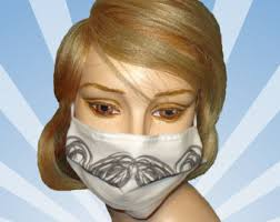 Decorative Surgical Masks Items similar to Fashionable Face mask for City smog Pollen 61