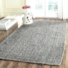 light grey jute rug natural fiber hand woven light grey chunky thick jute rug