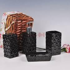 Hohe Menge Bad Produkt Keramik Badezimmer Set 4 Stück Set Schwarz