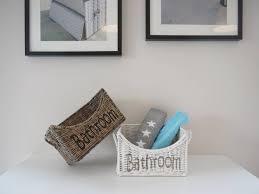 Aufbewahrungsbox Badezimmer Korb Bathroom Aus Rattan In 2 Farben