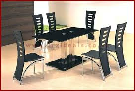 dining tables glass dining table sets 6 six chair set stunning and chairs crystal black