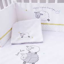 counting sheep space saver cot bedding