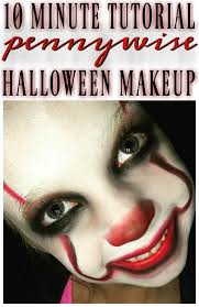 pennywise the clown makeup tutorial for kids quick easy it clown
