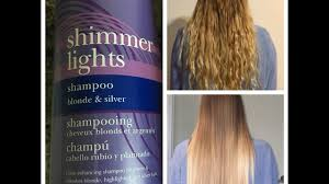 Shimmer Lights Shampoo Before And After Clairol Shimmer Lights Purple Shampoo Before And After