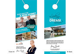 Door Hanger Design Template New Impressive Door Hanger Design Real Estate With Real Estate Door