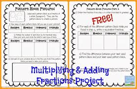 Pattern Block Fractions Simple Decorating Design