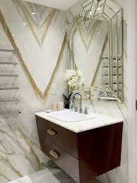 bathrooms contemporary powder room idea in london with a drop in sink furniture like cabinets dark modern art deco art deco furniture san francisco