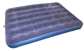 heavy duty inflatable flocked double airbed mattress camping caravan bedroom 1411 p