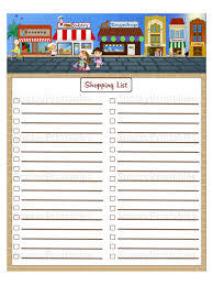 shopping lists shopping list printable instant download pdf