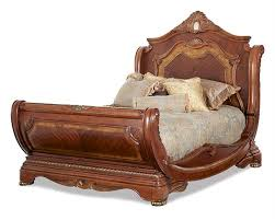 King Sleigh Bed Bedroom Sets Aico Queen King Sleigh Bed Cortina Ai N650 1