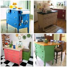 Amazing DIY kitchen island chopping block by using a old dresser