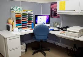 adorable office table design astounding appearance. Astounding Design Of The Small Office Areas With White Cabinets Added Blue Chairs And Grey Adorable Table Appearance