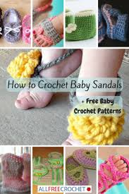 Crochet Baby Sandals Pattern Magnificent How To Crochet Baby Sandals 48 Free Baby Crochet Patterns