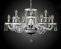 12 arms black crystal chandelier case