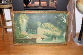 32x20 Frame Large 1920s George Hacker Lithograph Print Daydreams