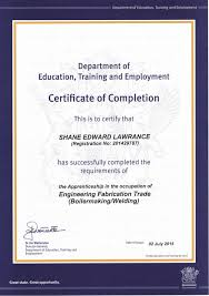 Making A Certificate Boilermaking Certificate Of Completion