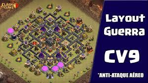 Layout De Guerra Para Cv9 Anti Ataques A Reos Clash Of Clans
