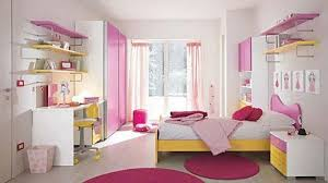 Smart Arranged Bedroom Furniture With Pink Yellow Shades Also Girls
