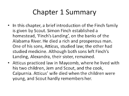 to kill a mockingbird chapters notes ppt video online  chapter 1 summary