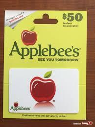 50 applebees gift card