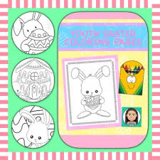 Coloring Pages For Youth Easter By Positive Counseling Tpt