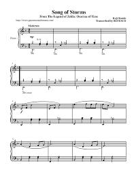 legend of zelda piano sheet music the legend of zelda song of storms p 1 piano sheet music music