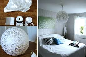 lamps chandeliers you can create from everyday objects diy lighting ideas yarn lampshade diy bedroom lighting