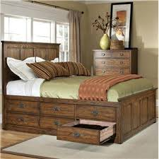 king bed with drawers. Exellent Bed Intercon Oak Park OPBR5856CKMISC Mission California King Bed With  Twelve Underbed Storage Drawers  Hudsonu0027s Furniture Platform BedsLow Profile Beds In With I