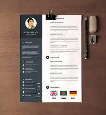 Free Creative Resume Templates 28 Minimal Creative Resume Templates Psd  Word Ai Free Ideas