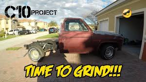 Truck chevy c10 project trucks : The Grind Begins On The $1000 Project Truck (Chevy C10) - YouTube
