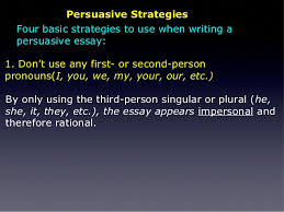 the persuasive essay copy  persuasive strategies