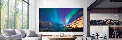 Wall Design For Flat Screen Tv Samsung Electronics Debuts Expanded Microled Qled 8k And