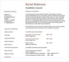 Academic Resume Impressive 60 Academic Resume Templates To Download Sample Templates