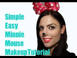 easy minnie mouse makeup tutorial 2016