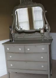antique mirrored furniture. Chalk+painted+dressers | Antique Chalk Painted Dresser With Mirror. Would Swap Out . Mirrored Furniture