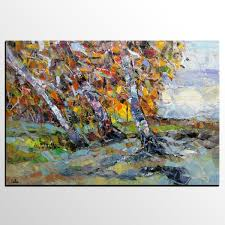 abstract landscape paintings canvas abstract art tree landscape painting oil painting heavy texture