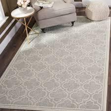 safavieh amherst indoor outdoor light grey ivory rug 4 x 6