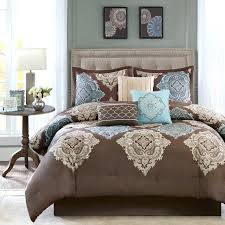 blue brown comforter sets king size and set interior it is elegant bedding black paisley twin