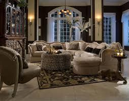 Michael Amini Living Room Sets Aico Toledo 6 Piece Fabric Sectional Set
