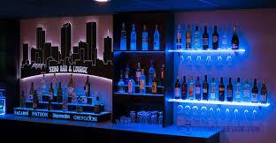 Led Floating Glass Shelves LED Lighted Shelves Back Bar Shelving For Home Bars Restaurants 30