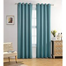 teal bedroom curtains. mysky home solid grommet top thermal insulated window blackout curtains for girls bedroom, 52 x teal bedroom r