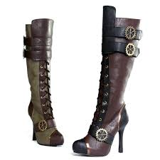 Ellie Shoes Size Chart Ellie Shoes 420 Quinley 4 Inch Heel Knee High Steampunk Boot With Laces Women