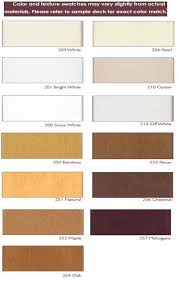 Faux Color Chart Custom Faux Wood Blinds