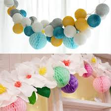 How To Make Tissue Paper Balls Decorations 1000cm 100pc Tissue Paper Honeycomb Balls Hanging Paper Balls 81